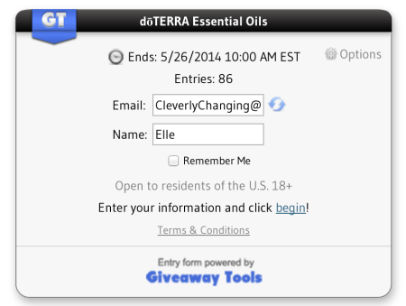 How to enter a Giveaway Tools (GT) giveaway