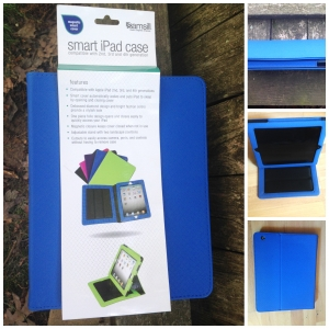 Review: Samsill iPad Holder Debossed Pattern Blue