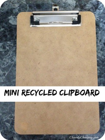 Back to School Supplies: Recycled Clipboard