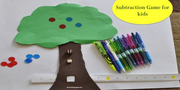 Subtraction Game_Pens #craft