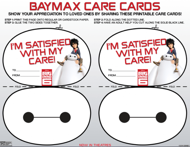 BayMax Care Cards #free #kids #fun