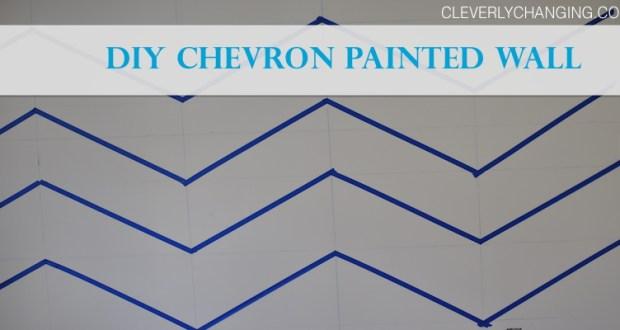DIY Chevron Painted Wall