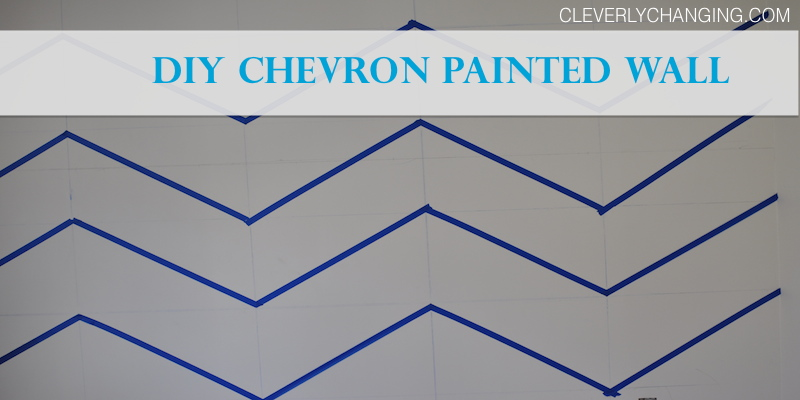 DIY Chevron Painted Wall