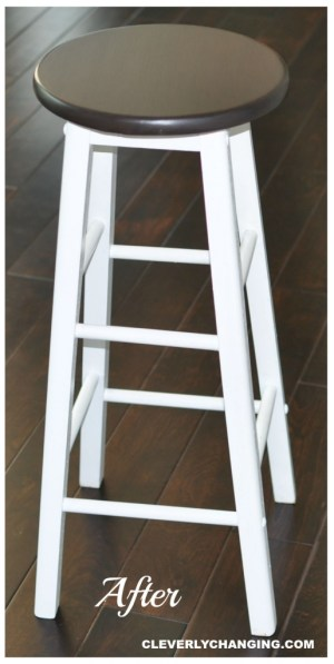 Frugal bar stool transformation #upcycle #diy #frugalliving