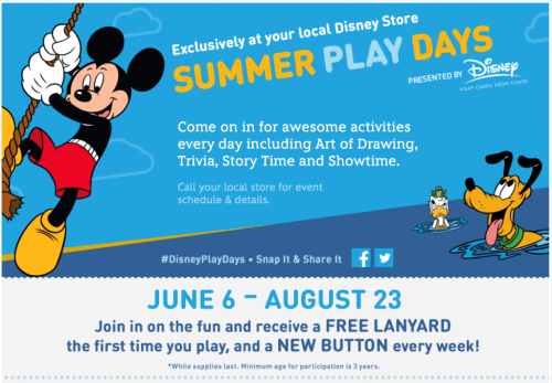 Disney Stores: Low Cost or Free 2015 Summer Activities