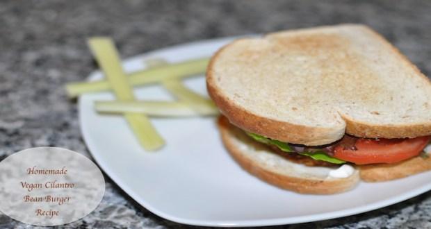 Yummy #Vegetarian #Vegan Cilantro Bean #Burger #Recipe