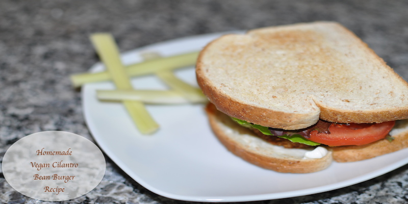 Yummy #Vegetarian #Vegan Cilantro Bean #Burger #Recipe