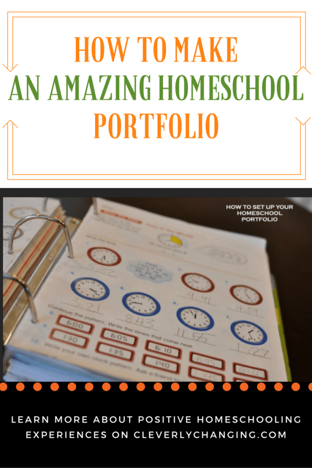 How to make an amazing homeschool portfolio binder