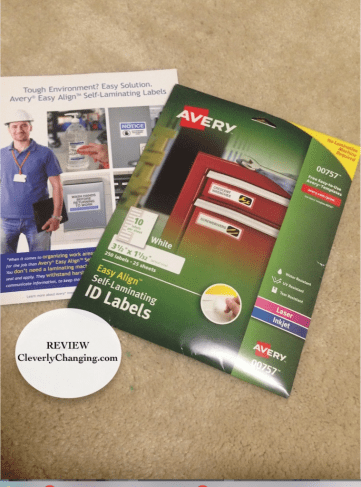 Avery Self Laminating Labels #Review #Ad