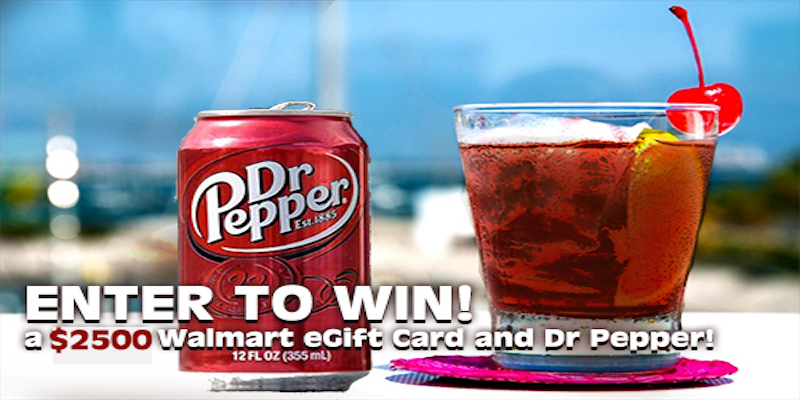 Dr Pepper #Sweepstakes. Win up to $2,500.