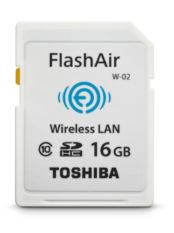 Toshiba wifi enabled sd card 16gb