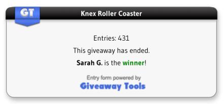Blog Contest Winner
