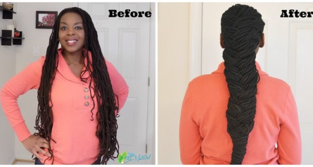 French Braid and Barrel Roll with Locs hair tutorial