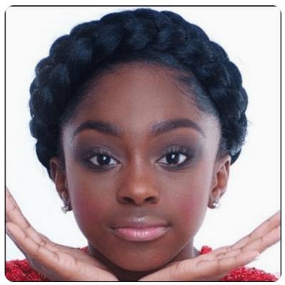 Natural Hair crown/ goddess braid