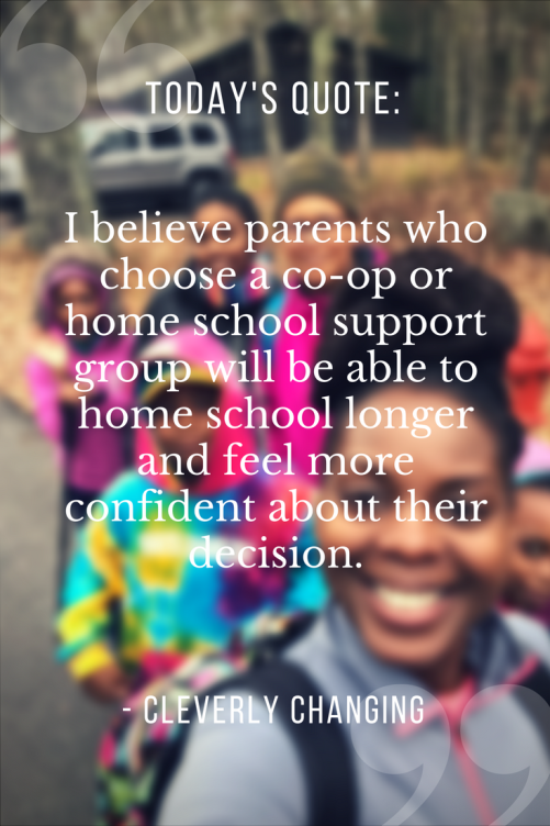 Homeschool co-op and support group quote #homeschool #homeeducation #quotes