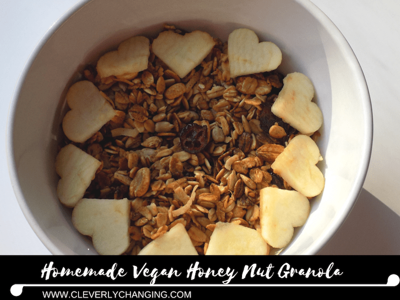 How to make homemade vegan granola and a smoothie bowl cleverly homemade vegan honey nut granola ingredients ccuart Image collections