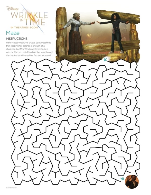 AWrinkleInTime_Maze Printable Coloring Pages for A Wrinkle in Time Fans