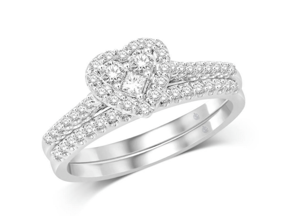 10K White Gold 2:5 Ct.Tw. Diamond Bridal Ring