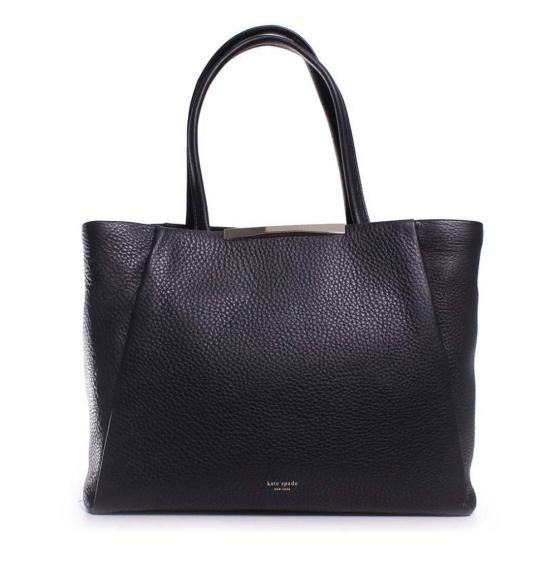 Kate Spade PXRU4928-001 Astor Row Zora Black Pebbled Leather Women's Shoulder Bag