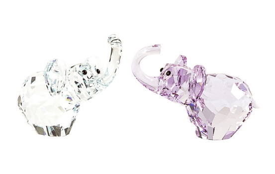 Swarovski 5136526 Blue & Purple Crystal In Love Paul & Paula Elephants