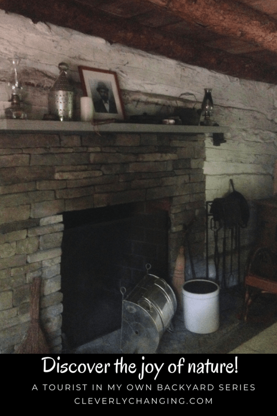 James Harper Homestead fireplace at the Brookside Nature Center in Wheaton MD from the Explore Your Own Backyard Series