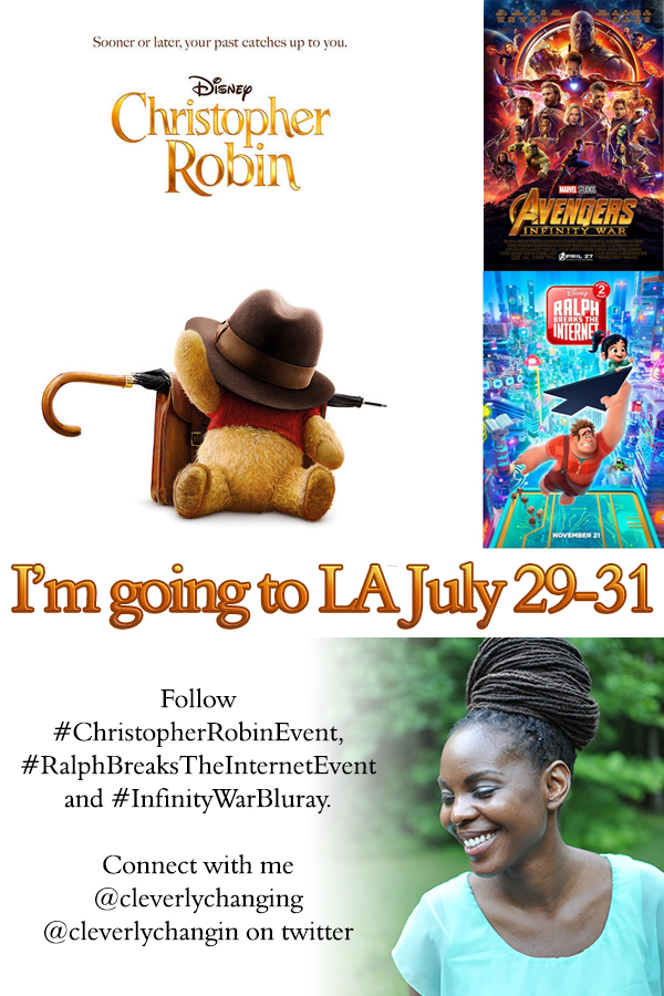 Follow Cleverlychanging July 29-31 - Christopher Robin Event