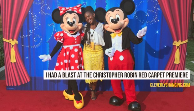 African American Blogger at The Christopher Robin Red Carpet Premiere