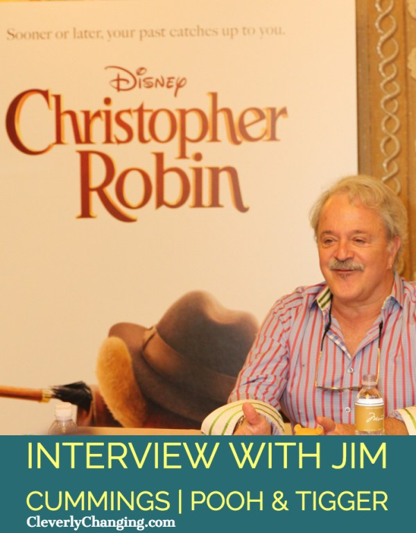 Interview with Christopher Robin Star Jim Cumming who plays Pooh and Tigger