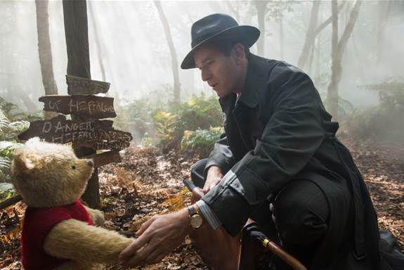 Hundred Acre Wood with Christopher Robin and Pooh