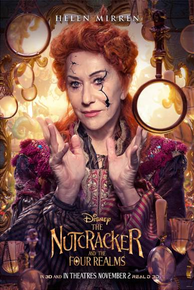 Helen Mirren The Nutcracker and the Four Realms in theaters November 2