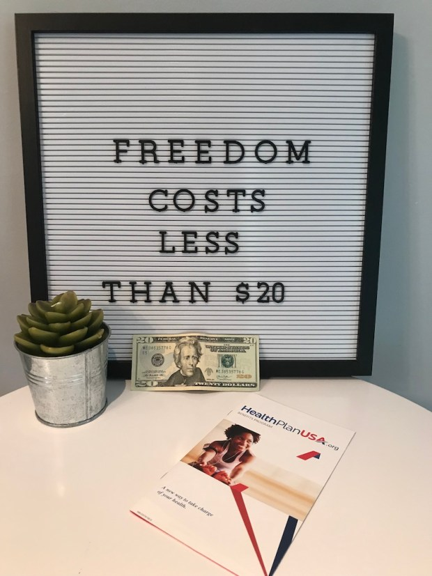 Freedom costs less than 20 dollars