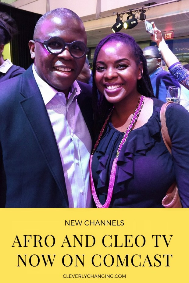 Founder of Afro TV - Yves Bollanga and Blogger Elle Cole