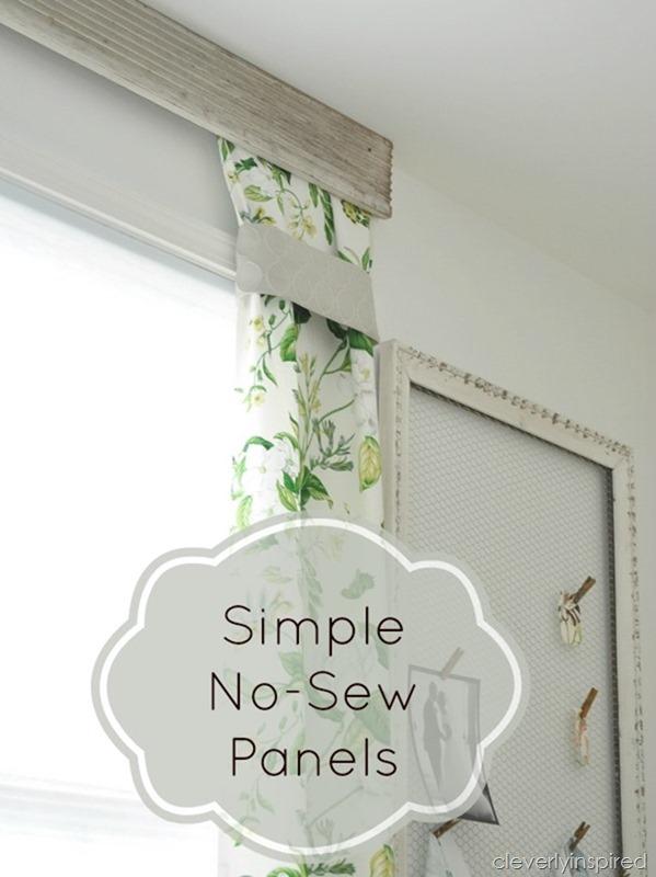 simple no sew drapery panels