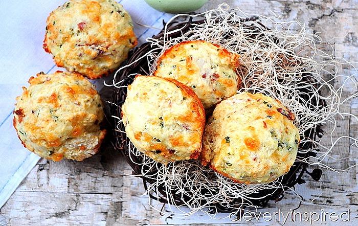 cheesy bacon muffin recipe (6)