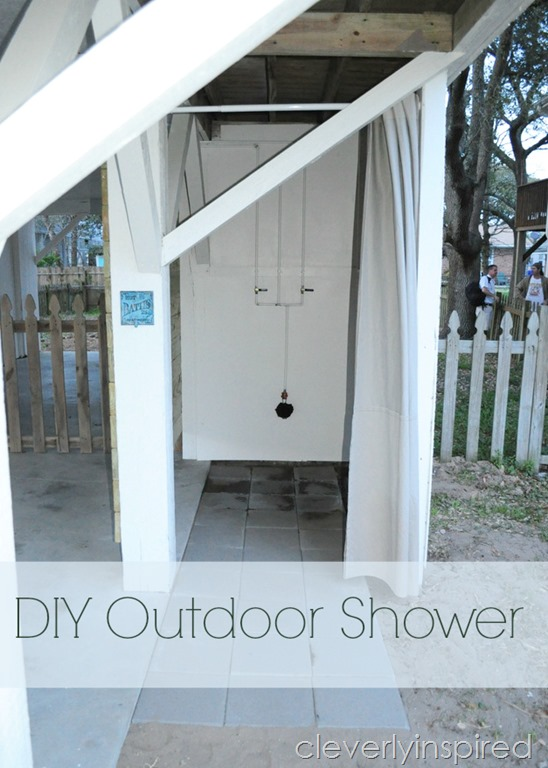 DIY Outdoor Shower  Cleverly Inspired