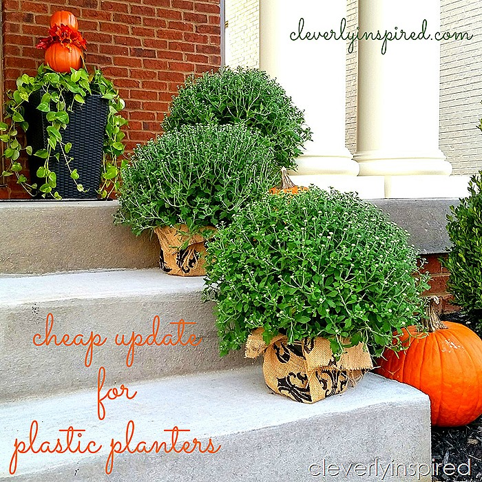 cheap update for plastic planters @cleverlyinspired (8)