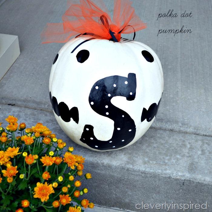 polka dot pumpkin @cleverlyinspired (7)