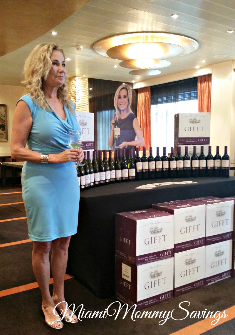 Kathie Lee Gifford GIFFT wines debut on Carnival Ships
