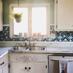 Kitchen Wall Tile Faucet Installation Do It Yourself Mosaic Decoration Self Adhesive Clever Application