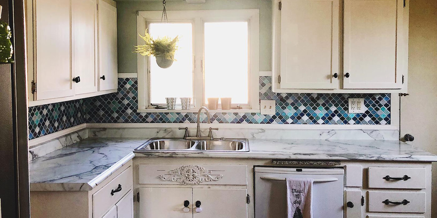 kitchen wall tile brass hardware do it yourself mosaic decoration self adhesive clever application