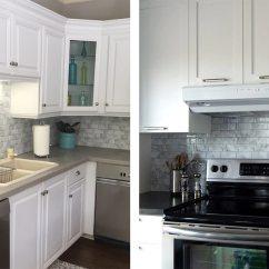 Gray Subway Tile Kitchen Best Drop In Sinks Grey Backsplash Clever Mosaics