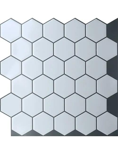 hexagon tile sticker from Clever Mosaics