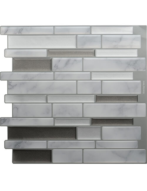 peel and stick carrara marble tile cm80705 6pcs pack