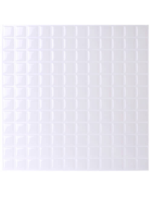 peel and stick white square tile backsplash cm80216 6pcs pack