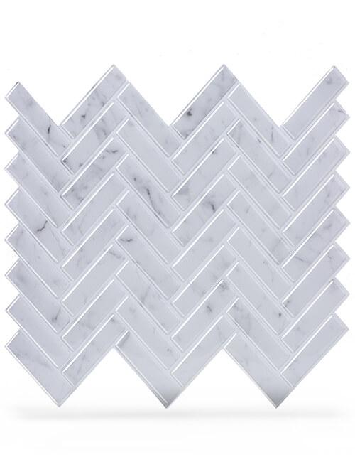 grey herringbone tile peel stick vinyl thicker design cm81028 6pcs pack