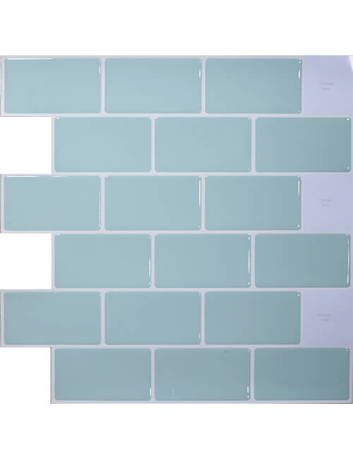 Green Peel And Stick Subway Tile Clever Mosaics