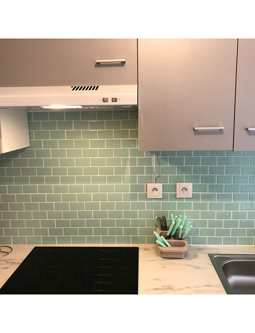 https clevermosaics com product green peel and stick tile