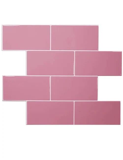 pink subway tile