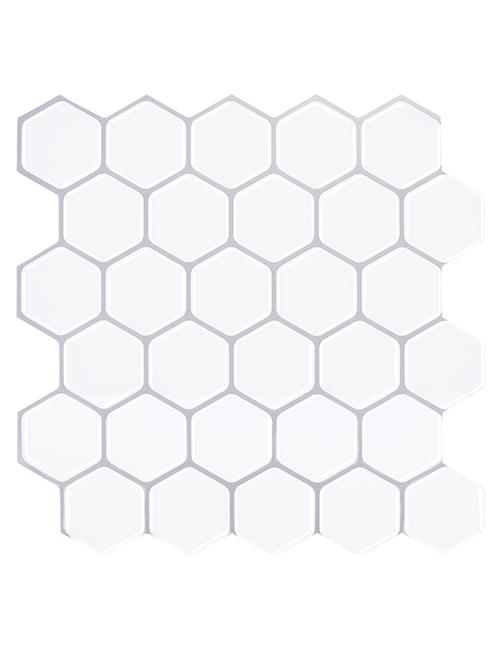 white hexagon tile backsplash peel and stick cm81505 6pcs pack
