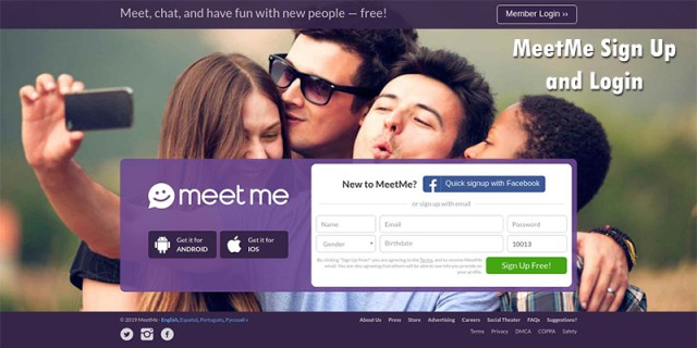 MeetMe Sign Up and Login